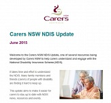 Carers NSW NDIS Newsletter June 2015 - now available