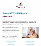 Carers NSW NDIS Newsletter September 2015 - now available