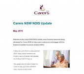May 2015 Carers NSW NDIS Update - now available