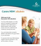 Carers NSW eBulletin November 2015 - now available